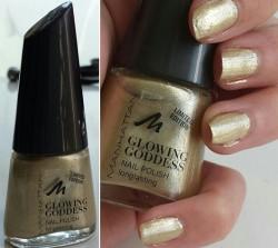 Produktbild zu MANHATTAN Glowing Goddess Nail Polish – Farbe: 002 Golden Glaze (LE)