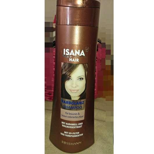 test shampoo isana hair farbglanz shampoo f r braunes braun coloriertes haar. Black Bedroom Furniture Sets. Home Design Ideas