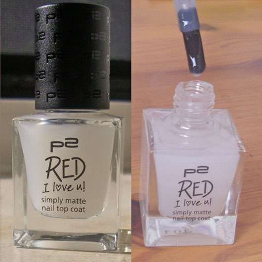 p2 red I love u! simply matte nail top coat (LE)