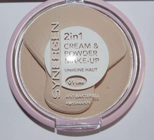 Synergen 2in1 Cream & Powder Make-up, Farbe: 01