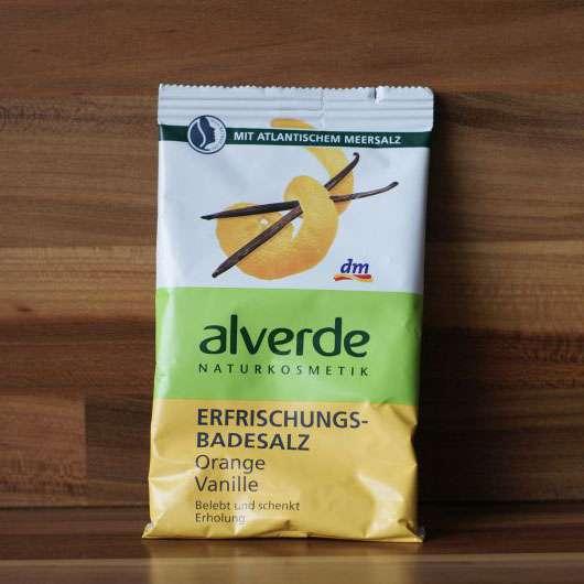 alverde Erfrischungs-Badesalz Orange Vanille