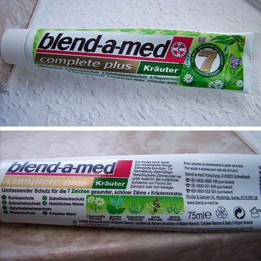 "blend-a-med complete plus ""Kräuter"" Zahncreme"
