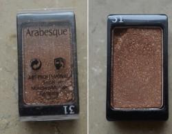 Produktbild zu Arabesque Kompakter Lidschattenpuder – Farbe: 31 Goldbraun