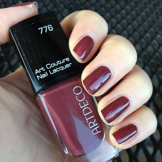 Test Nagellack Artdeco Art Couture Nail Lacquer Farbe 776 Couture Red Oxide Testbericht