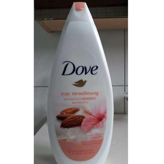 Dove Pure Verwöhnung Reichhaltiges Cremebad Mandelmilch und Hibiskusduft