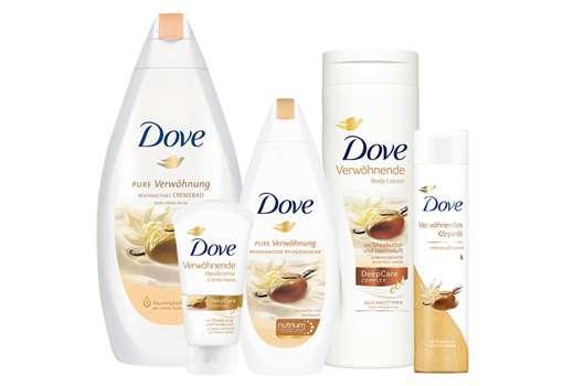 """Gewinne 1 von 5 Wohlfühl-Sets mit der Dove Pflegeserie """"Pure Verwöhnung"""""""