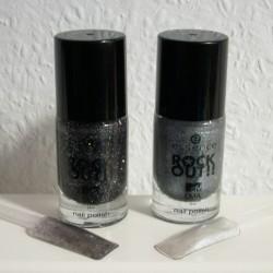 Produktbild zu essence rock out!! nail polish – Farben: 01 best rock und 02 best hip hop (LE)