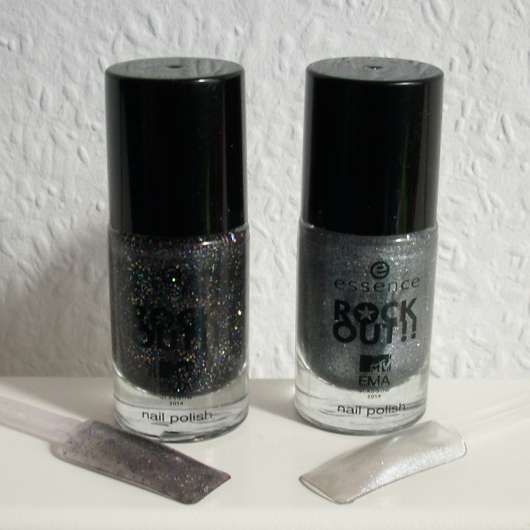 essence rock out!! nail polish, Farben: 01 best rock und 02 best hip hop (LE)