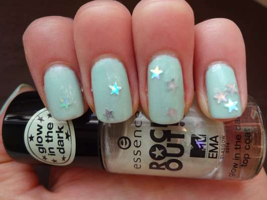 essence rock out! glow in the dark top coat, Farbe: 01 biggest fan (LE)