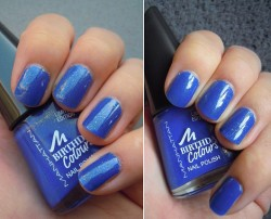 Produktbild zu MANHATTAN Birthday Colours Nail Polish – Farbe: 009 Blue Party Dress (LE)