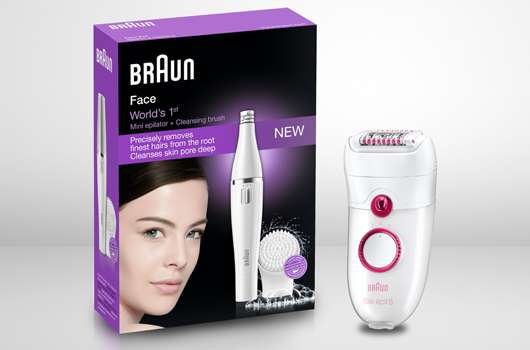 Weltneuheit von Braun: Die erste Kombination aus Gesichtsepilierer und sanfter Reinigungsbürste