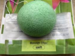Produktbild zu ebelin Konjac Gesichtspflege-Schwamm (Grüner Tee)