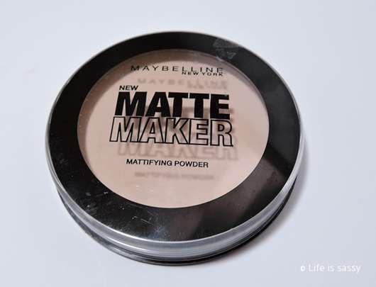 Maybelline Matte Maker Mattifying Powder, Farbe: 015 Light Beige
