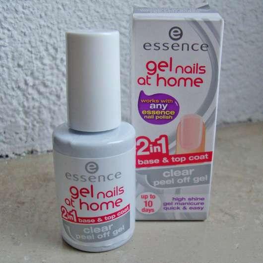 essence gel nails at home 2in1 clear peel off gel base & top coat