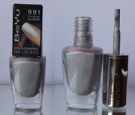 BeYu Holographic Nail Lacquer, Farbe: 991 Silver Illusion
