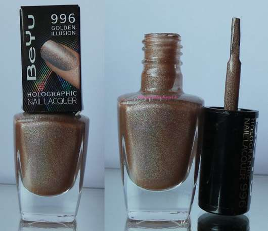 BeYu Holographic Nail Lacquer, Farbe: 996 Golden Illusion