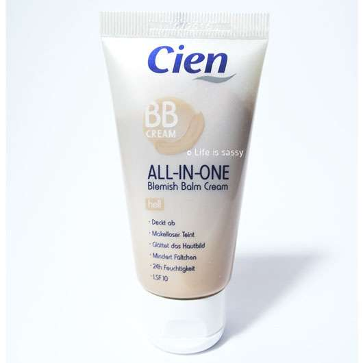 test foundation cien bb cream all in one farbe hell. Black Bedroom Furniture Sets. Home Design Ideas