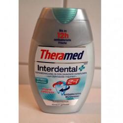 Produktbild zu Theramed Interdental 2in1 Fluorid-Zahncreme und Antibakterielles Mundwasser