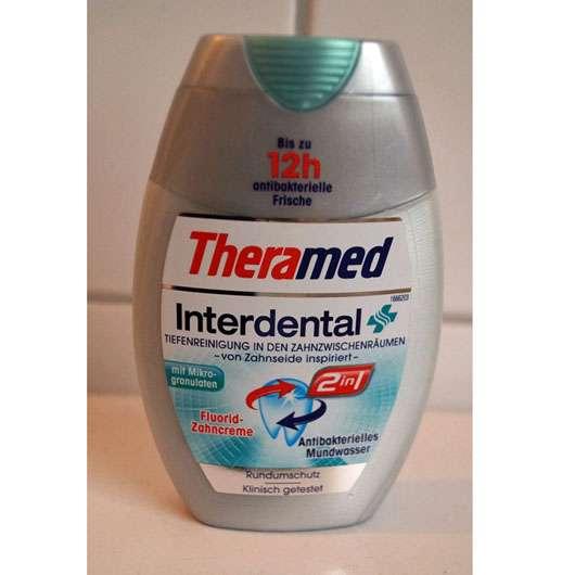 Theramed Interdental 2in1 Fluorid-Zahncreme und Antibakterielles Mundwasser