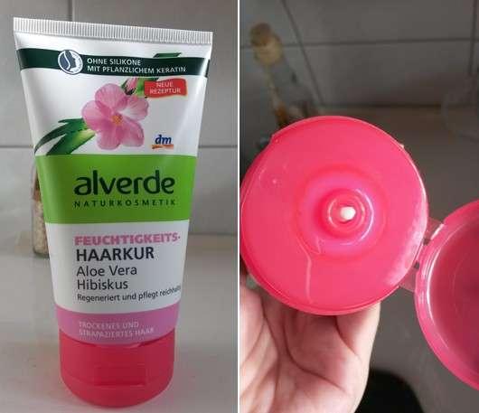 alverde Feuchtigkeits-Haarkur Aloe Vera Hibiskus