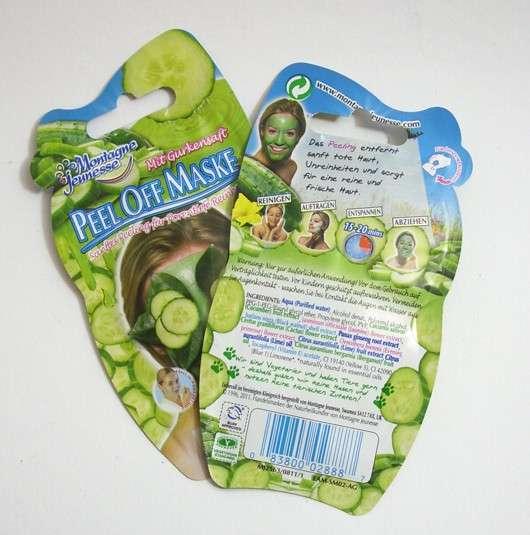 test maske montagne jeunesse peel off maske gurkensaft testbericht von irma. Black Bedroom Furniture Sets. Home Design Ideas