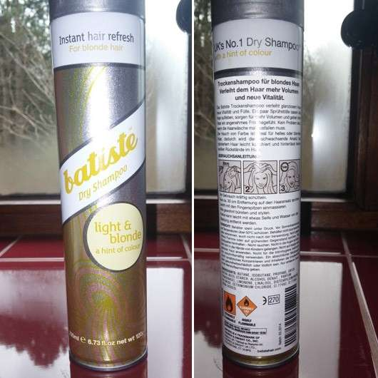 "Batiste Hint of Colour Dry Shampoo ""light & blonde"""