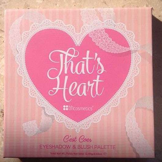 bhcosmetics That's Heart Lidschatten und Rouge Palette