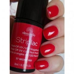 Produktbild zu alessandro International Striplac Peel-Off UV / LED Nagellack – Farbe: 27 Secret Red