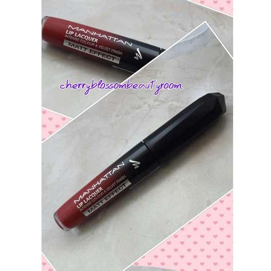 test lippenstift manhattan lip lacquer matt effect farbe 100 red velvet testbericht von. Black Bedroom Furniture Sets. Home Design Ideas