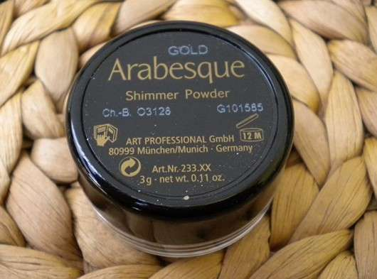 Arabesque Shimmer Powder, Farbe: Gold