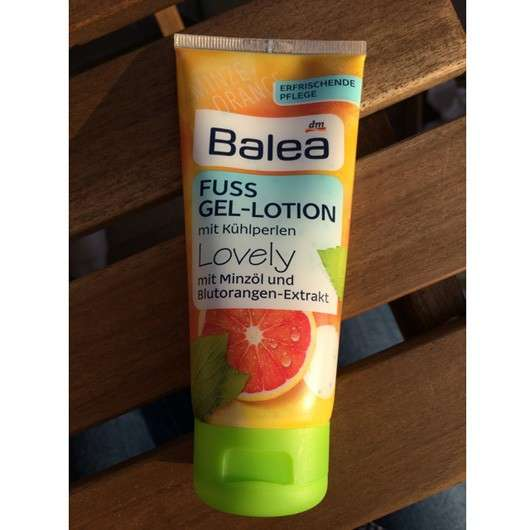 Balea Fuss Gel-Lotion mit Kühlperlen Lovely
