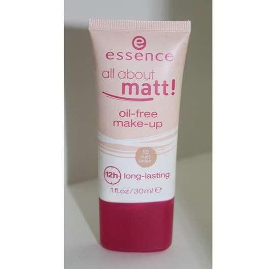 essence all about matt! oil-free make-up, Farbe: 10 matt beige