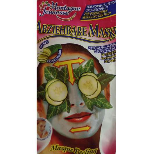 test maske montagne jeunesse abziehbare maske gurke testbericht von luisasophia. Black Bedroom Furniture Sets. Home Design Ideas