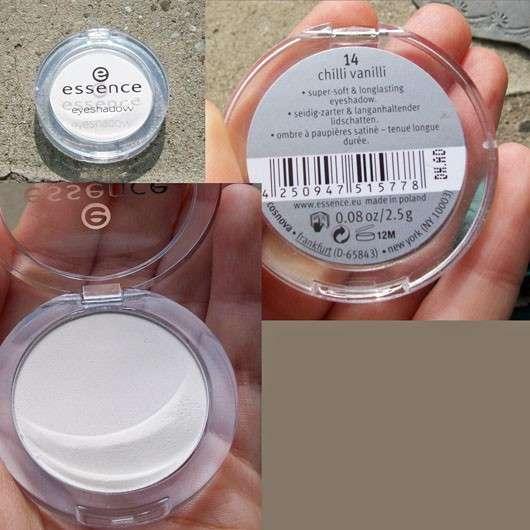 essence mono eyeshadow, Farben: 14 chilli vanilli & 16 triple choc
