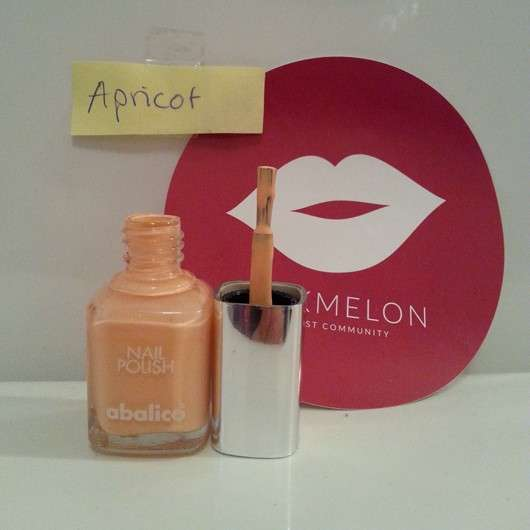 test nagellack abalico nail polish farbe apricot testbericht von suppenhuhn. Black Bedroom Furniture Sets. Home Design Ideas