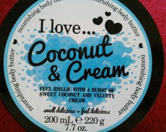 I love… Coconut & Cream Nourishing Body Butter