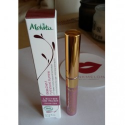 Produktbild zu Melvita Rosenlippen 2-in-1 Lipgloss – Farbe: Rosa