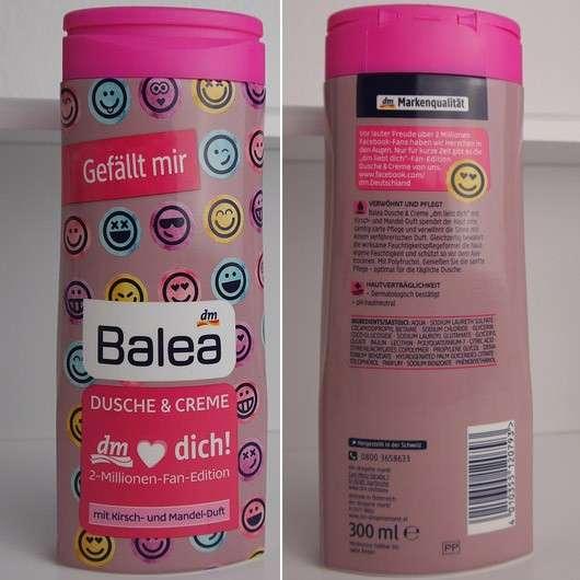 Balea 2 Millionen Fan Dusche & Creme Kirsch & Mandel (LE)