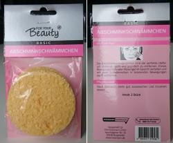 Produktbild zu for your Beauty Basic Abschminkschwämmchen