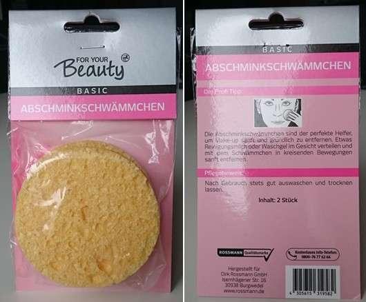 for your beauty Abschminkschwämmchen