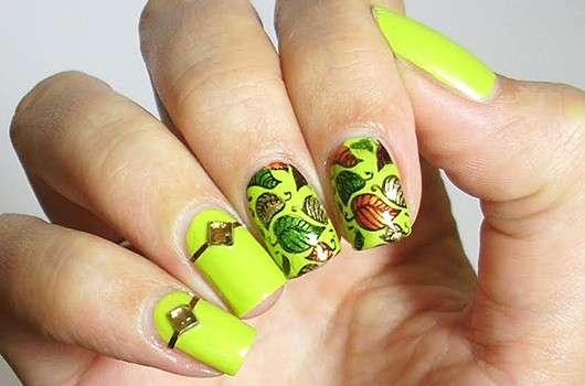 Herbstliches Nailart mit selbstgemachten Nail Art Decals