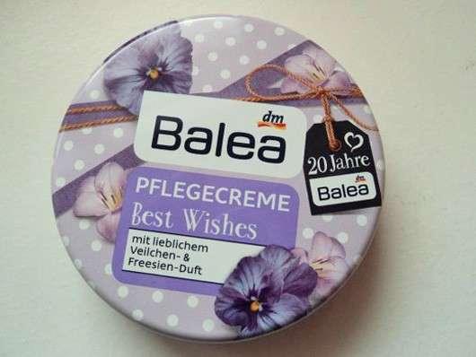 Test body pflege balea pflegecreme best wishes veilchen
