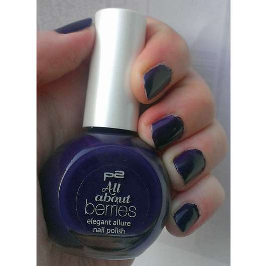 p2 all about berries elegant allure nail polish, Farbe: 070 blackberry passion (LE)