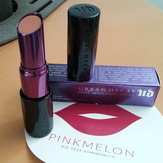 Test - Lippenstift - Urban Decay Matte Revolution Lipstick