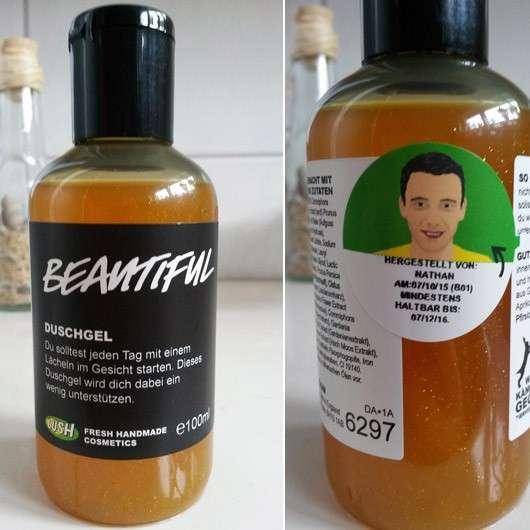 Test Reinigung Lush Beautiful Duschgel Testbericht