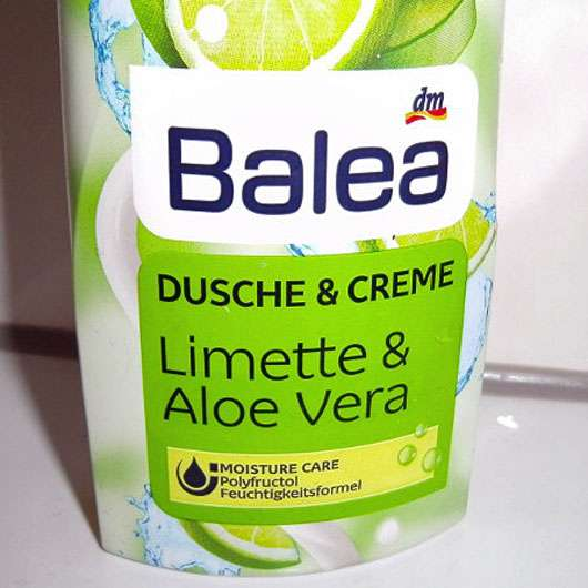 test reinigung balea dusche creme limette aloe vera testbericht von cuddly. Black Bedroom Furniture Sets. Home Design Ideas