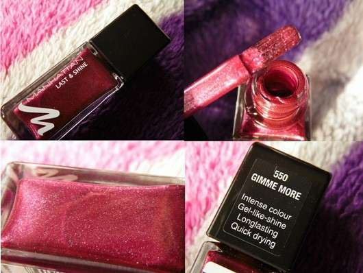 Manhattan Last & Shine Nail Polish, Farbe: 550 Gimme More