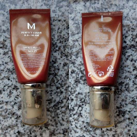 MISSHA Perfect Cover B.B. Cream, Farbe: 21 Light Beige