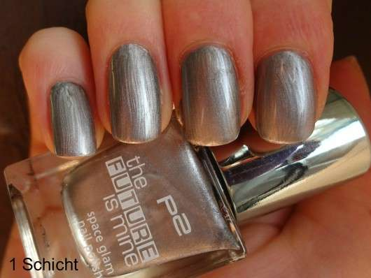 p2 the future is mine space glam nail polish, Farbe: 010 silver lining (LE)