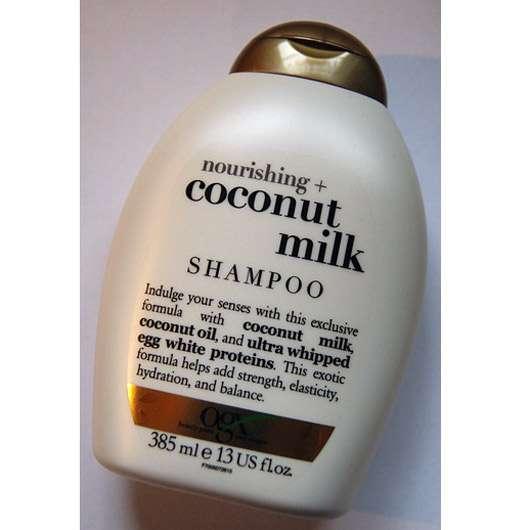test shampoo ogx nourishing coconut milk shampoo. Black Bedroom Furniture Sets. Home Design Ideas